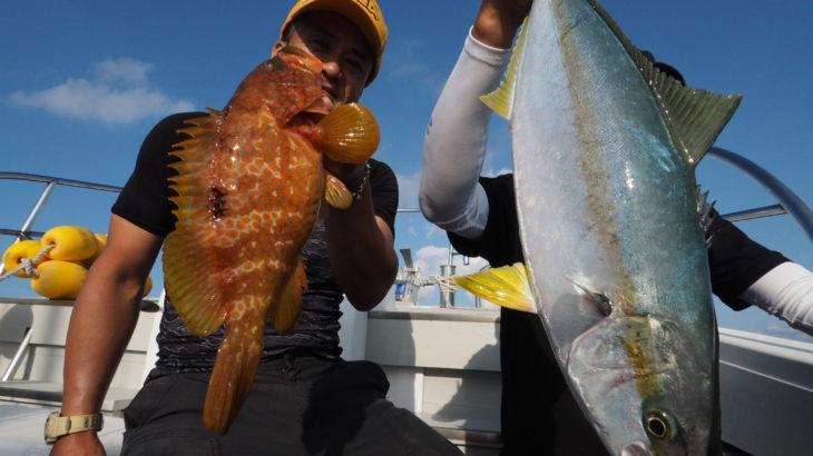 8月25日隠岐の島ジギング! 少人数で隠岐の島ジギングに行って来ましたが、水深80m前後の魚の活性が非常に悪く💦 思い切ってSLJに切り替えてお土産程度を釣る事が出来ました😅