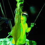 7月23日(木) 白イカ 昨日に続き、まぁまぁなローリングでアタリも取りにくい中、船酔いにもめげず何とか終了時刻まで頑張って頂きました✨写真が緑色なのでもはや誰が船酔いしてるやら💦25〜60杯 船中430杯 スルメ多数