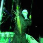 7月4日(土)   メタルハライドの光色のせいで、夜になるとみんなナメック星人に変身する今シーズン😅 5〜45杯 船中240杯 スルメ多数