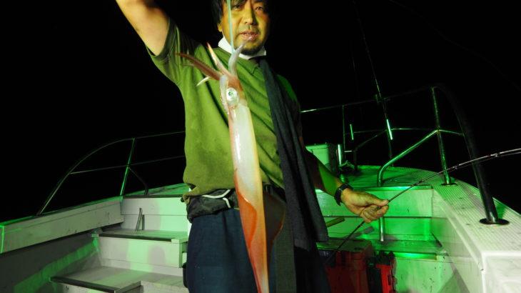 9月4日(金)  金曜日と言う事で、皆さん仕事終わりからの遅め出船でスタート!各僚船からの情報では、今日は良く釣れてるよ!でしたが、本船はさっぱり💦ポイントを何回か変えるも、さっぱり💦僚船Bull Shark🦈 があり得んくらい釣ってたので( 船中1000杯コース)隣を拝借させて頂き、怒涛の入れ喰いに突入!!しかも、良型ばかりで今季最高の釣果でした✨Bull Sharkに「感謝と恩返し 」恩返しです!!しなければ💦 100杯超が多数で、皆さんクーラーに詰め過ぎて正確な数が不明ですが、船中900杯くらいかと🦑💦