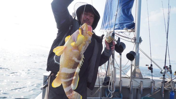 3月14日(日)近海ジギング! 昨日のウネリが残る中、近海でのスロージギングに行って来ました。青物の気配が全くないのでスローで根魚を狙いました!微妙な青物?は一時入れ喰いになりました💦