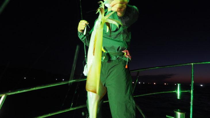 6月19日(土)  白イカは何処に(汗) 全く釣れないので3回もポイント移動したのが仇となりドラマなく終了しました(涙)  白イカ7〜35杯 船中201杯 スルメ多数